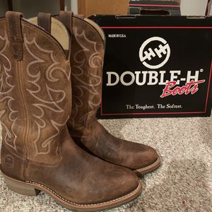 "Double-H 12"" Gel Oak ICE Mens Size 9.0 D Medium Work Western Boots for Sale in Belhaven, NC"