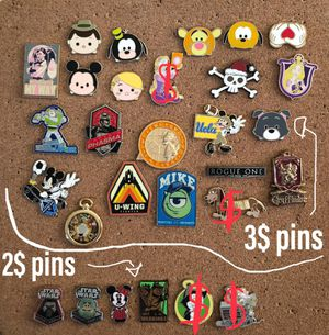 Disney and universal trading pins all authentic and tradable two prices FIRM for Sale in Los Angeles, CA