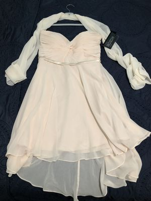 Cream strapless dress size 14 NWT for Sale in Mission Viejo, CA