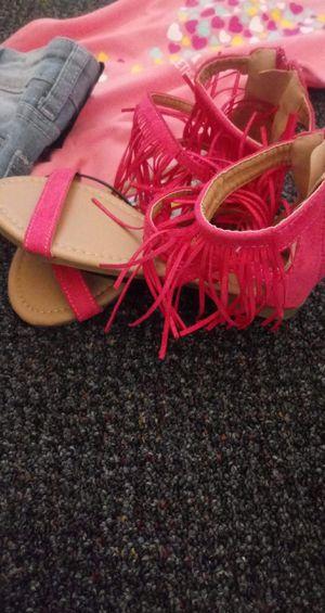 Shoes size 10 jordan size 12 sandles for Sale in St. Petersburg, FL