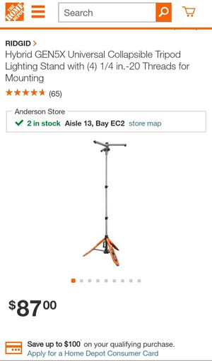 Ridgid Universal tripod stand for Sale in Clemson, SC