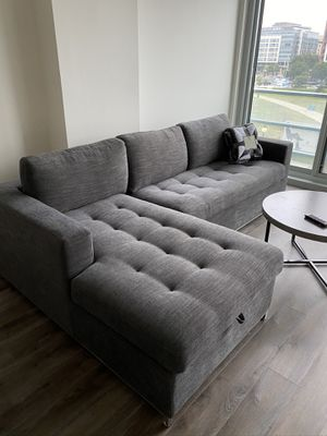 Brand New Sectional w/ memory foam sleeper and storage for Sale in Washington, DC