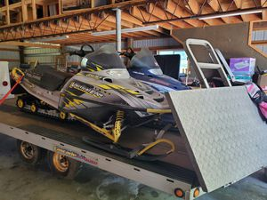 2 Polaris snowmobiles with trailer for Sale in Gold Bar, WA