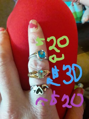 10 k gold, Sterling silver rings for Sale in Amarillo, TX