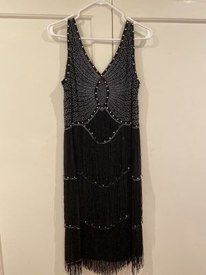 Beaded 20's Style Flapper Dress w/ Feathered Headpiece for Sale in Mountain View, CA