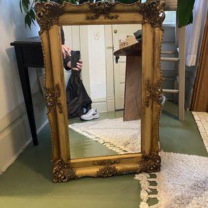 Gold Antique Mirror / Vintage Mirror / Mirrors / Desk Mirror / Dresse Mirror for Sale in Columbus, OH