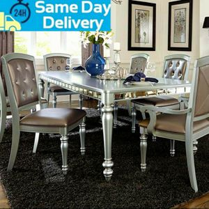 ❤İn Stock🍒Orsina Silver Mirrored Extendable Dining Set by Homelegance for Sale in Washington, DC