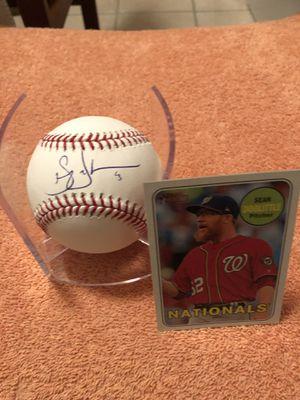 Sean Doolittle Autographed Rawlings Official Major League Baseball & 2019 TOPPS Heritage Baseball Card! for Sale in Fairfax, VA