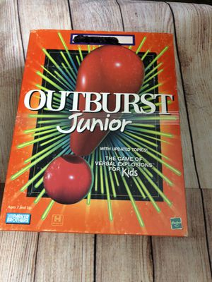 Outburst Junior - The Game of Verbal Explosions for Kids! for Sale in San Bernardino, CA