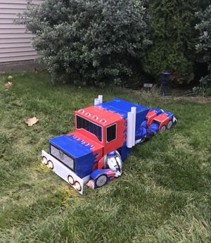 Optimus prime transforming transformer halloween costume for Sale in Port Orchard, WA