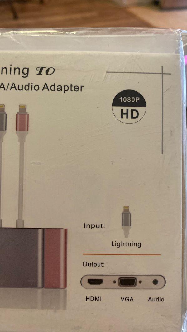Lightning to HDMI /VGA / audio adapter