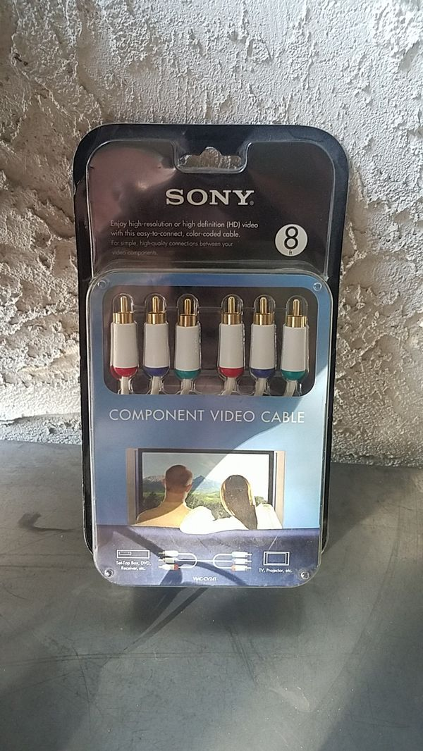 Sony component video cable