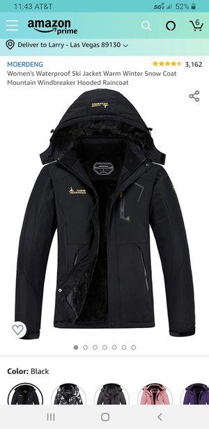 MOERDENG Women's Waterproof Ski Jacket Warm Winter Snow Coat Mountain Windbreaker Hooded Raincoat for Sale in Las Vegas, NV