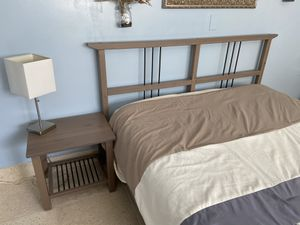 IKEA matching bed frame, nightstand and desk. Great condition! for Sale in Lake Worth, FL