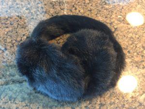 Rabbit black rabbit fur ear muffs for Sale in Chicago, IL