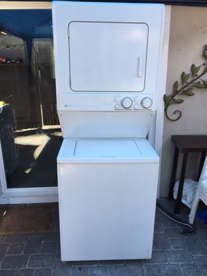 Stackable Washer And Gas Dryer Heavy Duty Like New for Sale in Costa Mesa, CA
