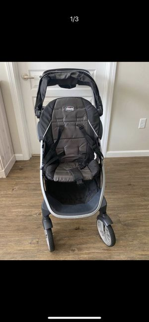 stroller chicco bravo for 2 + chicco keyfit infant car seat + 2 car seat base for Sale in Belmont, MA