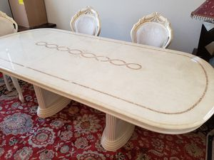 Dining table with 6 chairs (white, contemporary, wood) for Sale in Chandler, AZ