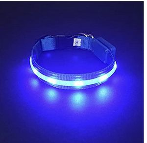 Dog Pet Collar Flashing USB Charging LED Safety Lighting LED Pet Collar Nylon Pet Seat Belt Neck Str for Sale in Seattle, WA