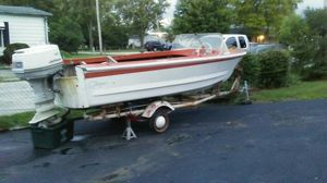 Boat, motor and trailer for Sale in Columbus, OH