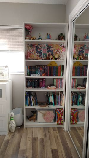 "Bookshelves two, white. ""Billy"" bookcase from Ikea for Sale in Tamarac, FL"