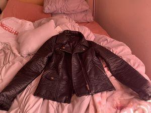 Black leather jacket for Sale in Winston-Salem, NC