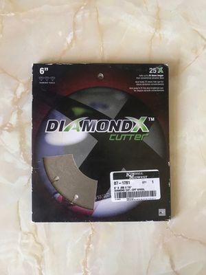 Diamond cut off wheel 6in diamondx cutter 170749-DX ,7/8 diameter for Sale in Yuma, AZ