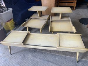 Mid Century MCM end tables and coffee table for Sale in Freedom, PA