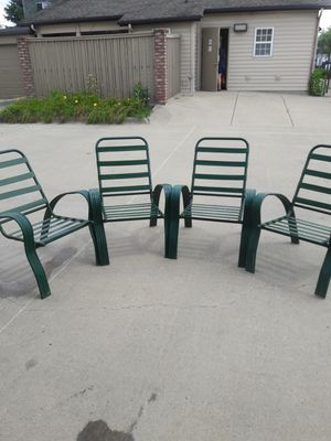 Metal pool chairs for Sale in Columbus, OH