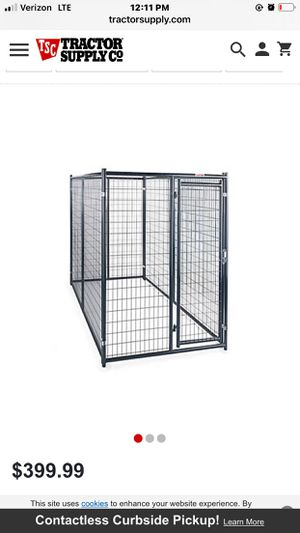 Welded Wire Dog Kennel 5' W x 10' L x 6' T for Sale in Ocklawaha, FL