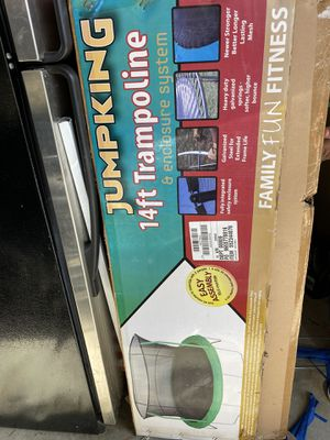 14 ft Brand New Trampoline enclosure not included, still In original packaging/box! for Sale in Nashville, TN