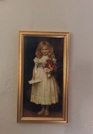 Art little girl with flowers and letter for Sale in Hialeah, FL