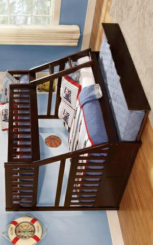 399/Rowe Cherry Twin/Full Bunk Bed for Sale in Houston, TX