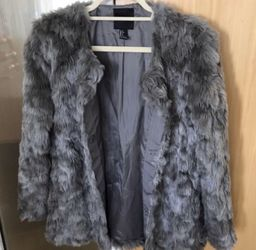 Grey Faux Fur Jacket for Sale in Washington,  DC