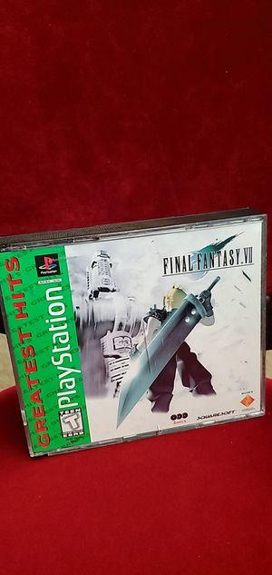 Playstation 1 Final Fantasy VII complete for Sale in Las Vegas, NV