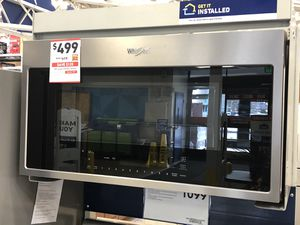 Whirlpool Fingerprint Resistant Stainless Steel Over-The-Range Microwave Hood Combination - WMH78019HZ for Sale in Lynnwood, WA