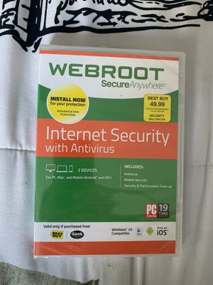 Antivirus internet security ( NEW) Never Opened for Sale in Silver Spring, MD