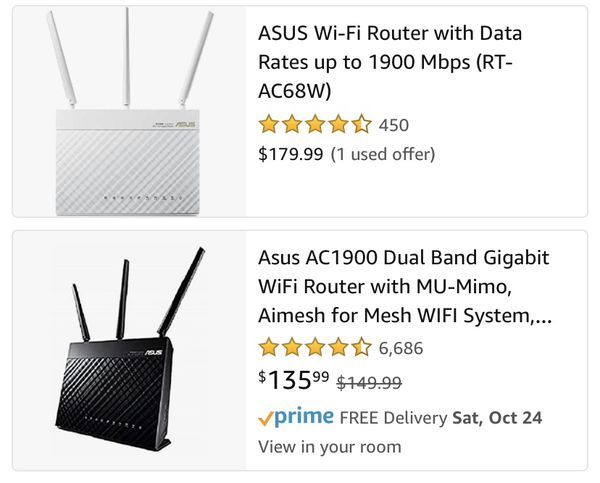 ASUS AC68W Router