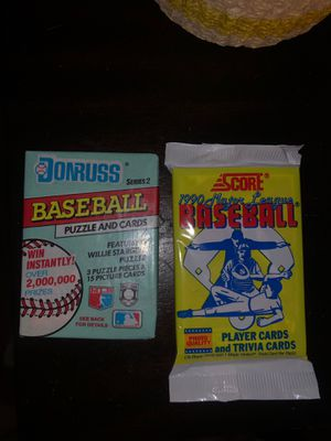1990 Score pack and 91' Donruss pack for Sale in Murfreesboro, TN