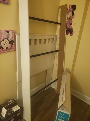 Twin headboard and frame and foot borad for Sale in Tamaqua, PA