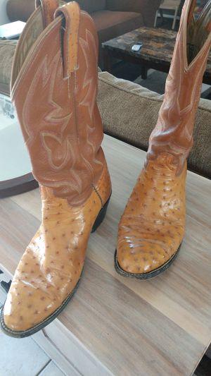 Full quill ostrich boots Men's 10 1/2 D for Sale in Phoenix, AZ
