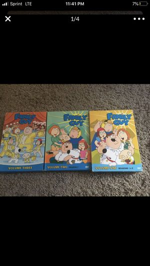 Family guy 3 season in dvd for Sale in Silver Spring, MD