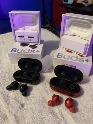 Samsung Galaxy Buds+ Plus, True Wireless Earbuds (Wireless Charging Case Included), Black or Red– US Version for Sale in Lithonia, GA