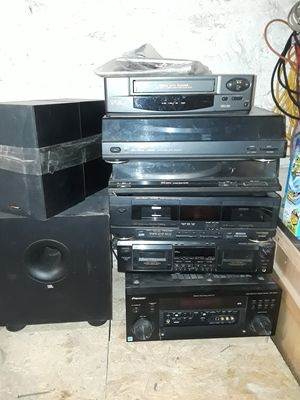 Old fashioned cassette, VHS ,Pioneer equalizer, and small speakers for Sale in Brooklyn, NY