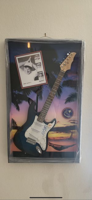 Jimmy Buffet Signed Guitar Art for Sale in Delray Beach, FL