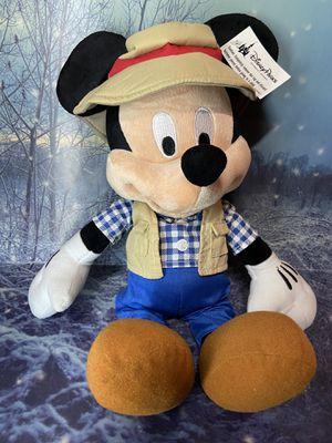 "NEW Walt Disney Parks Mickey Mouse Safari 16"" Plush Toy doll for Sale in Long Beach, CA"