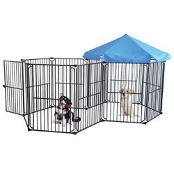 Heavy Duty Dog Playpen Dog Kennel, Pet Dog Exercise Playpen Foldable Dog Steel Crate Wire Metal Cage 6/10 Panels - 48/60 inches for Sale in Ontario,  CA