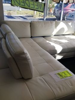 Fine Italian Leather Sectional $4,000 Value Letting Go For 1999 Financing And Delivery Available for Sale in New Port Richey,  FL