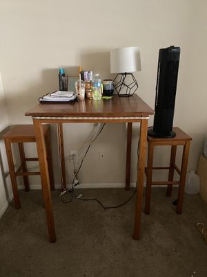 Wooden high top table for Sale in Tampa, FL