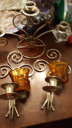 Home interior wall sconce and table candle holder for Sale in Alexandria, LA